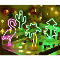 Battery Operated Pink Color LED Flamingo Neon Light