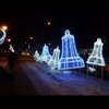 Artificial Outdoor Christmas 3D Bell Led Motif Light for Holiday