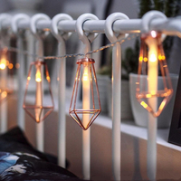 Factory Directly Sale High Quality Metal Diamond Shape String Light