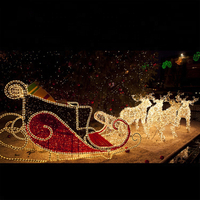 Christmas Outdoor Running Strip Reindeer Motif Light