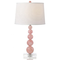 Home Indoor Use Cozy Nordic Post-modern Decorative Stylish Pink Glass Crystal LED Table Lamp