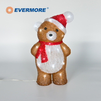 EVERMORE Christmas Teddy Bear Animal Acrylic Light