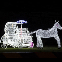 Christmas Outdoor Running Acrylic Reindeer LED Motif Light