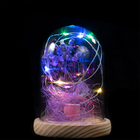 EVERMORE Purple Open-herding With Thread 8L Multicolor LED Bare Wire Glass Cover Light