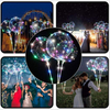 Christmas Party House Decoration Bobo Balloon Colorful/Warm-White Transparent Helium Balloon