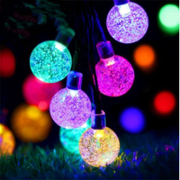 Moisture-proof Crystal Globe Ball LED Colorful light Outdoor Christmas Decoration Lights Holiday String Light