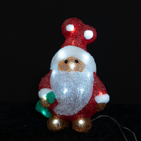 Christmas Acrylic Santa With Green Bag