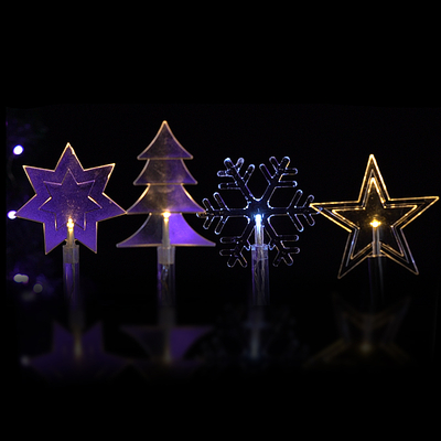 Pin LED light for outdoor use ,decoration with star ,Christmas tree ,snow and seven star shape