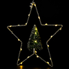 Star Iron Frame with Little Christmas Tree Light