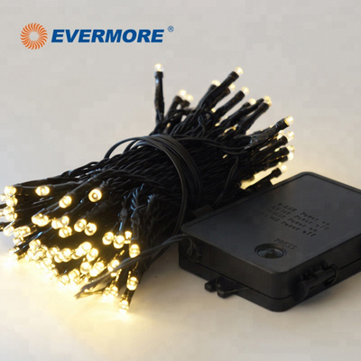EVERMORE Outdoor LED Cluster Light Chain Christmas Solar Led Fairy Light