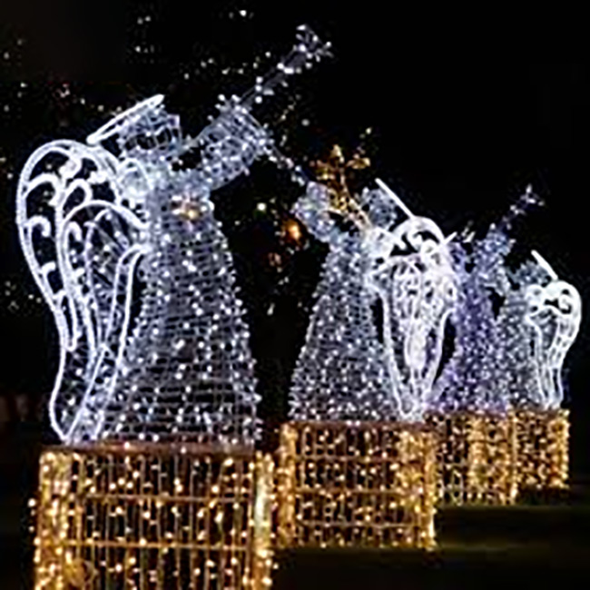 Led Christmas Decoration Angel Motif 3D Led Street Light