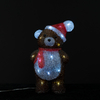 Christmas Acrylic bear with hat