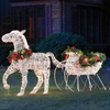 Christmas Outdoor Running Strip 3D Reindeer LED Large Motif Light