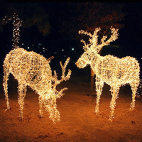 High Quality Christmas Decoration Animal Reindeer Led Street Motif Light