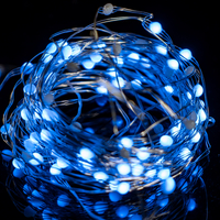 100LSpot LED, silver wire, with LED multi-color change