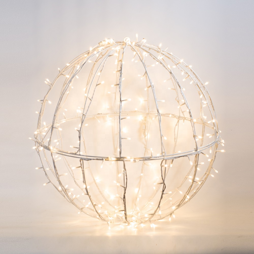 Outdoor Christmas Large Outdoor Use Aluminium Frame Ball LED Motif Light