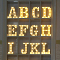 Window Decoration Atmosphere Creating LED Marquee Letter Light