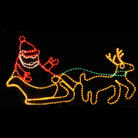Running Outdoor Christmas Reindeer Motif Lights